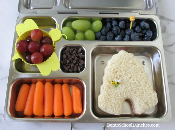 Beehive and Pooh bear bento lunch.