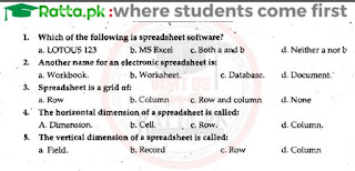 1st Year Computer Chapter 9 MCQs Solved pdf - ICS Part 1