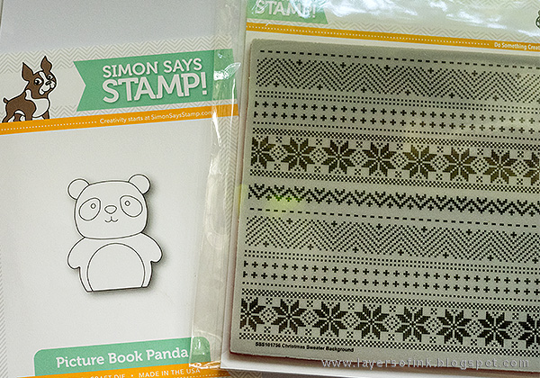 Layers of ink - Winter Panda Card tutorial by Anna-Karin with Simon Says Stamp Picture Book Panda