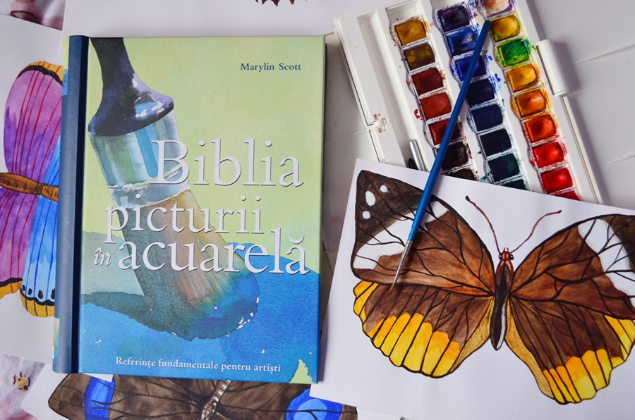 carte biblia picturii in acuarela marylin scott acuarele