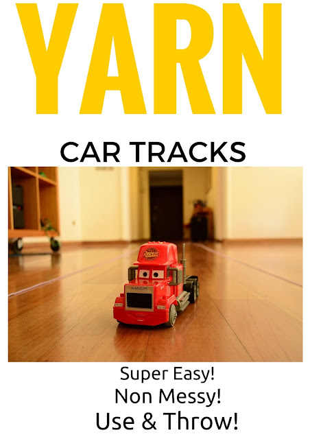 The Practical Mom: Yarn Toy Car Tracks (Practical Mondays #11)