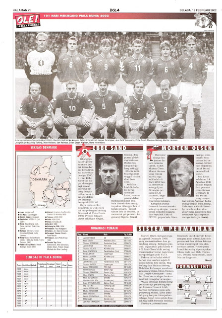 ROAD TO WORLD CUP 2002 DANEMARK TEAM PROFILE