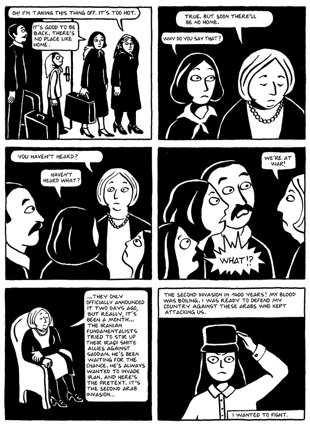 Read Chapter 10 - The Trip, page 77, from Marjane Satrapi's Persepolis 1 - The Story of a Childhood