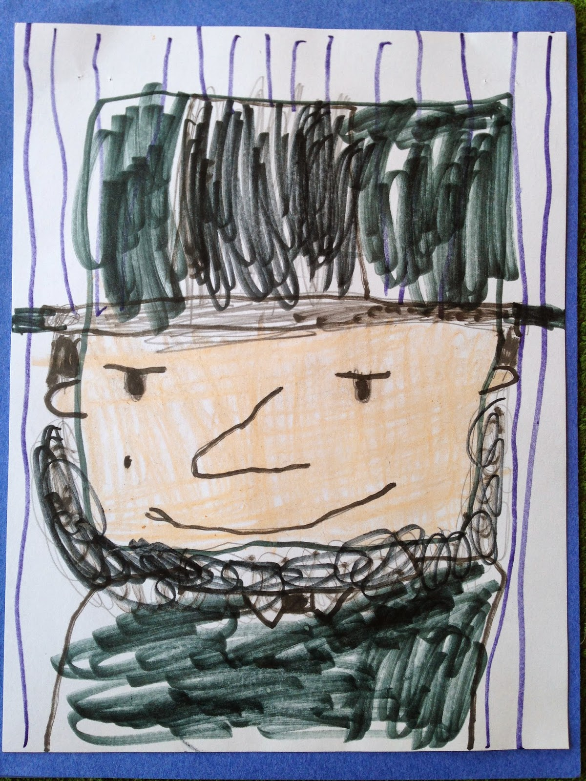 Child's drawing of Abraham Lincoln