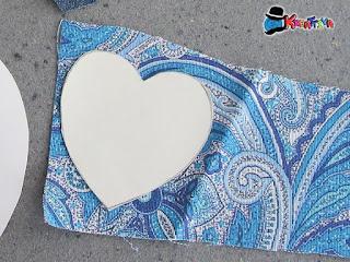 cuore con stoffa fai da te