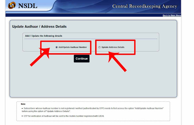 UPDATE AADHAR AND ADDRESS IN CPS PRAN ACCOUNT