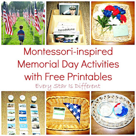 Montessori-inspired Memorial Day Activities with Free Printables