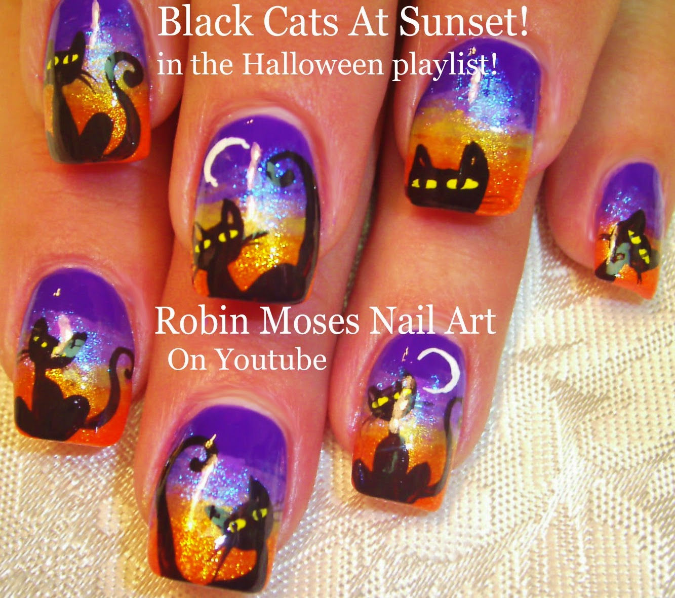 Nail art by robin moses halloween clip art cute halloween ideas nail art tutorials diy halloween nails easy halloween nail art designs for beginners solutioingenieria Image collections