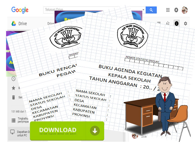 Contoh Format Buku Administrasi Umum Kepala Sekolah
