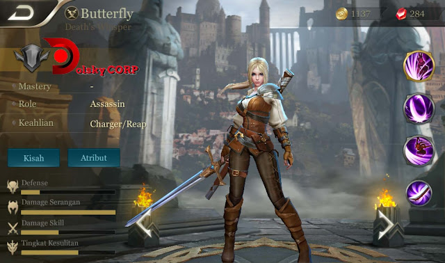 Arena of Valor : Hero Butterfly ( Death's Whisper ) Burst Damage Builds Set up Gear