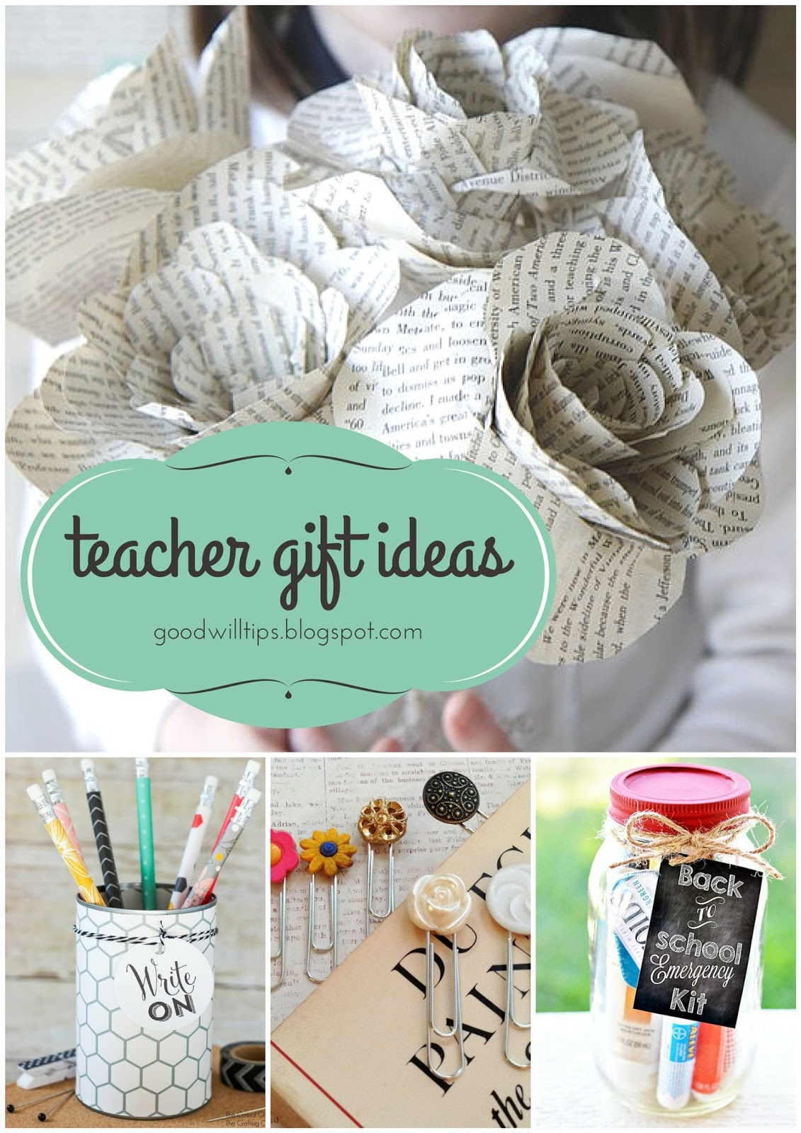 Great teacher gift ideas on small budgets goodwill michiana i am a firm believer that its a great idea to start your year off right with a little treat for your teachers when my kids were small and i was tired negle Gallery