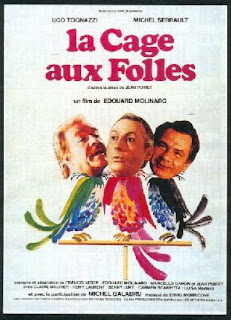 A publicity poster from the French film La Cage aux Folles in which Tognazzi starred