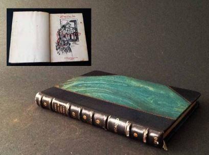 """Livro """"Evocação"""" de Isabel Vieira. Capa original. Foto: acervo Jonas - organização de leilões"""
