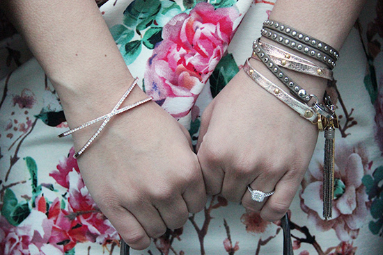 Rose gold and Grey Arm Party