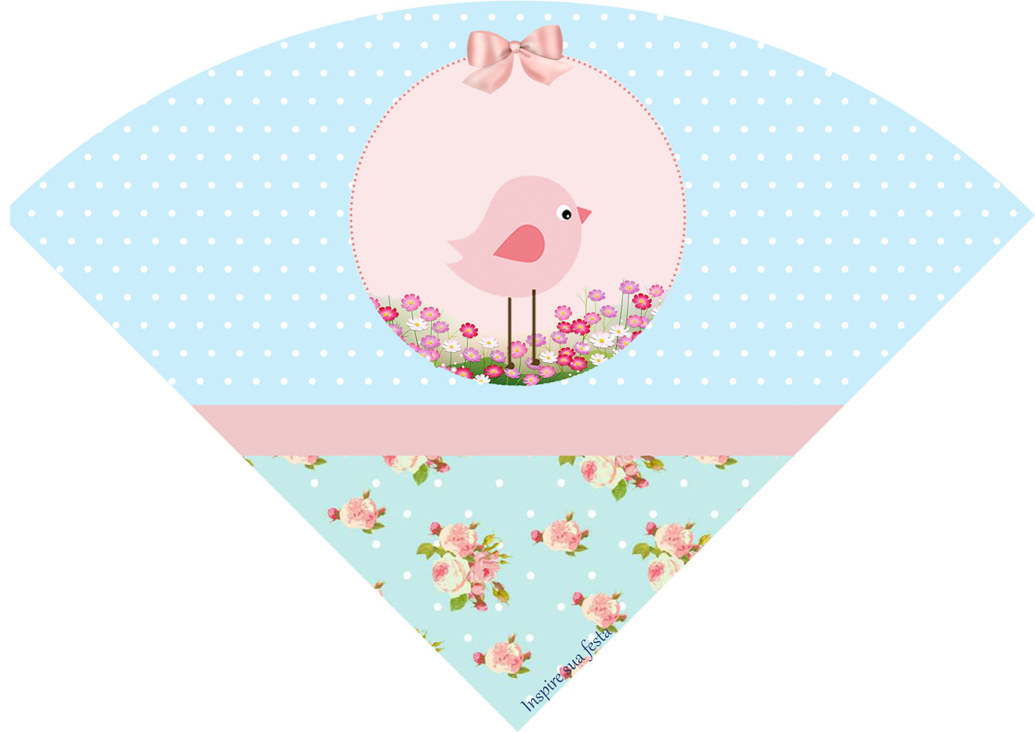 Pink Bird In Shabby Chic Free Printable Kit