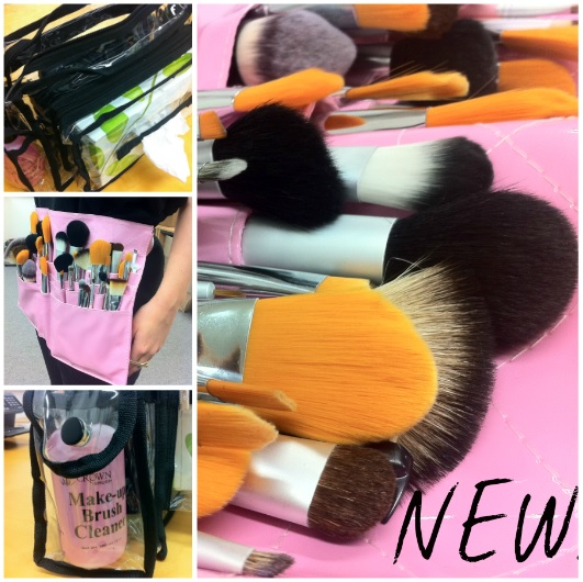 Crown Brush: NEW Pink Patent Brush Belt & Pro Clear Shoulder
