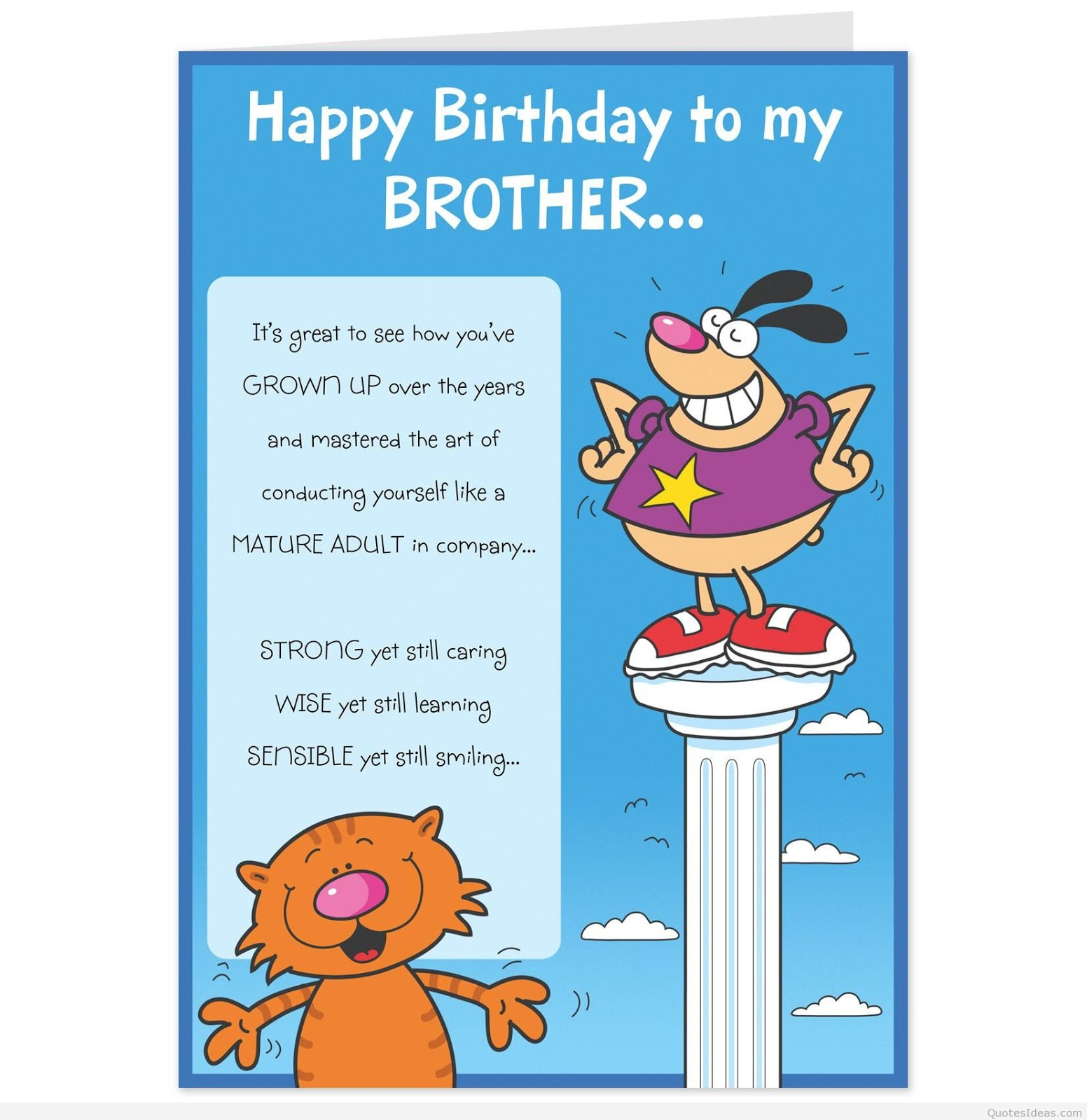 HAPPY BIRTHDAY BROTHER QUOTES Quotes For Brother Good
