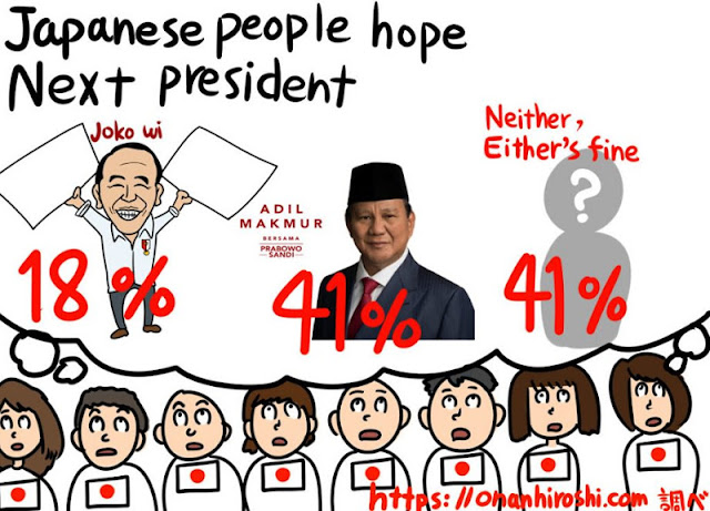 Komikus: Warga Jepang Inginkan Prabowo Jadi Presiden
