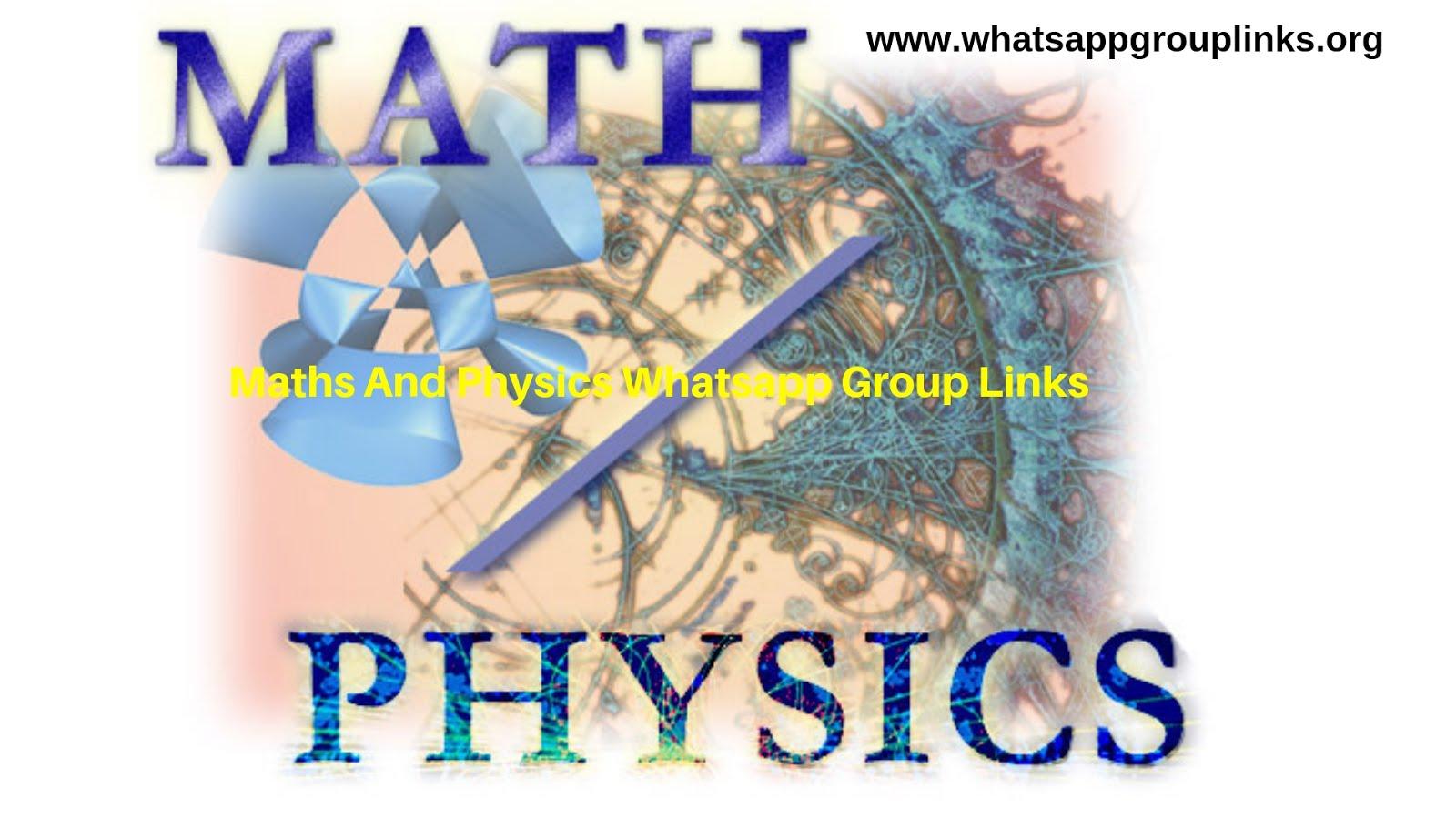 Join Maths And Physics Whatsapp Group Links List - Whatsapp