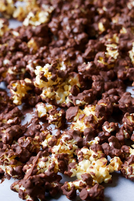 Chocolate Covered Caramel Corn (Cub Scout Copy-Cat Recipe)