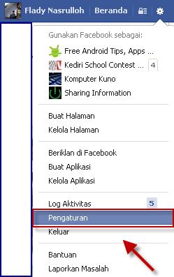 Cara pertama Menonaktifkan Akun Facebook Sementara