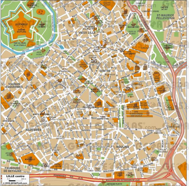 Mapa de Lille