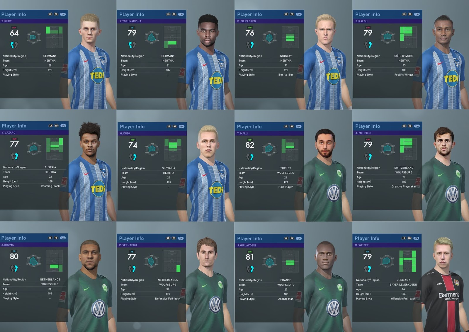 PES 2019 Bundesliga Faces for PTE Patch 2019 2 1 by Hawke