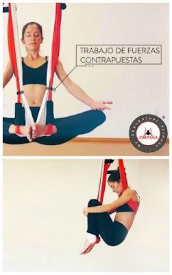 columpio yoga padmasana
