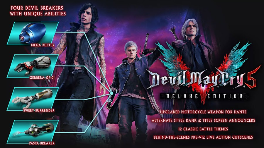 devil may cry 5 deluxe edition bonus