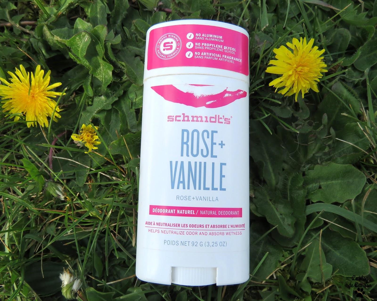 Rose + Vanille Déodorant Schmidt's