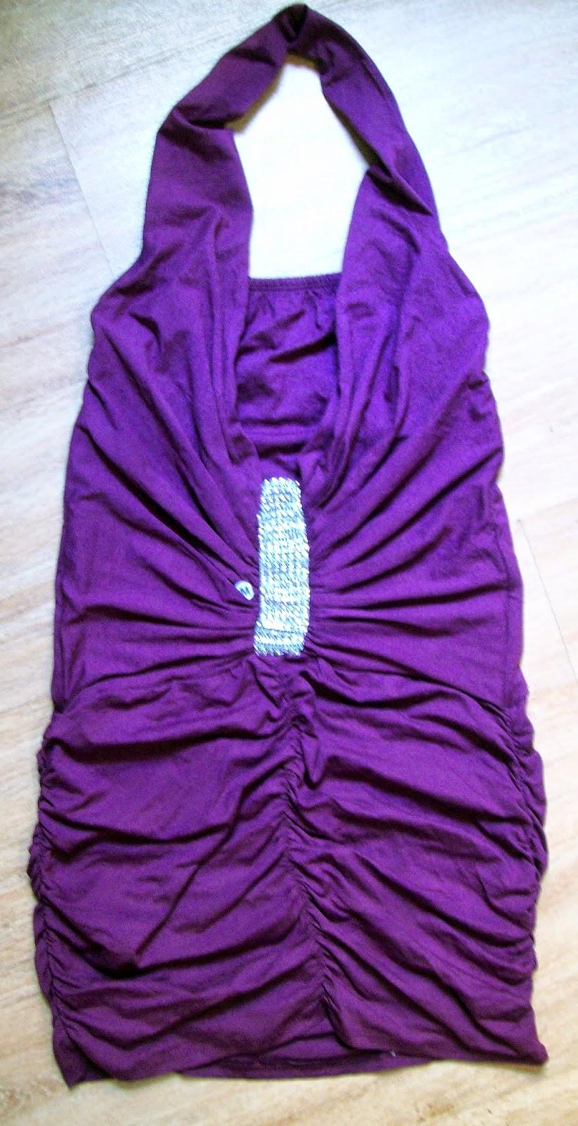 vestido malha plissado tamanho M