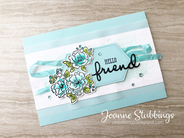 Jo's Stamping Spot - Social Stamping Blog Hop - Hello! using Happy Birthday to You stamp set by Stampin' Up!