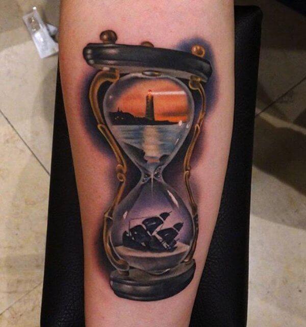 20 Ideas De Tatuajes Originales De Reloj De Arena Muy Hobby