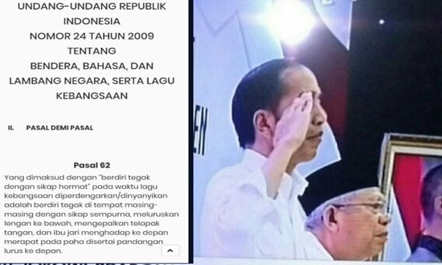 Jokowi Hormat Sendirian saat Lagu Indonesia Raya, Warganet: Mau Ketawa Takut Dituduh Makar