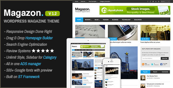 magazon: tema wordpress tipo revista