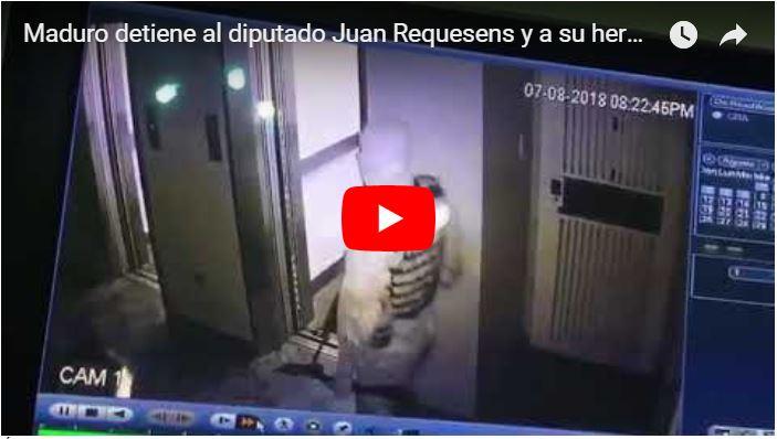 Maduro detiene al diputado Juan Requesens y a su hermana por Drone Explosivo