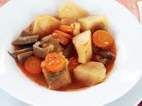 patatas con judías verdes y zanahorias