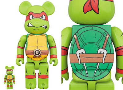 Teenage Mutant Ninja Turtles Raphael 100% & 400% Be@rbrick Vinyl Figures by Medicom