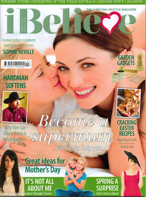 Sophie Neville on the cover of iBelieve