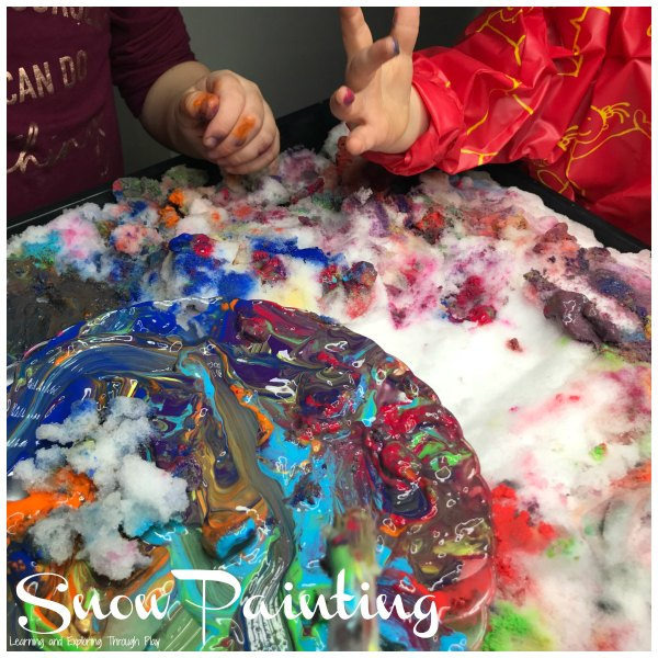 Painting Snow Process Art