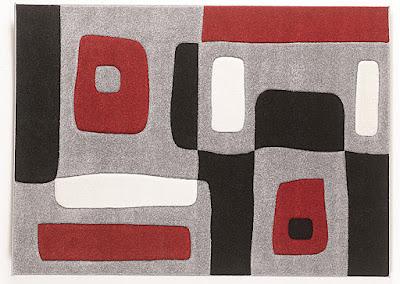 medium gray black and white accent rug