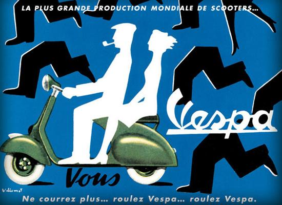 Vespa advertising 1954