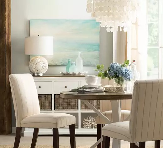 Coastal Decorating Ideas with Ocean Hue Glass Vases