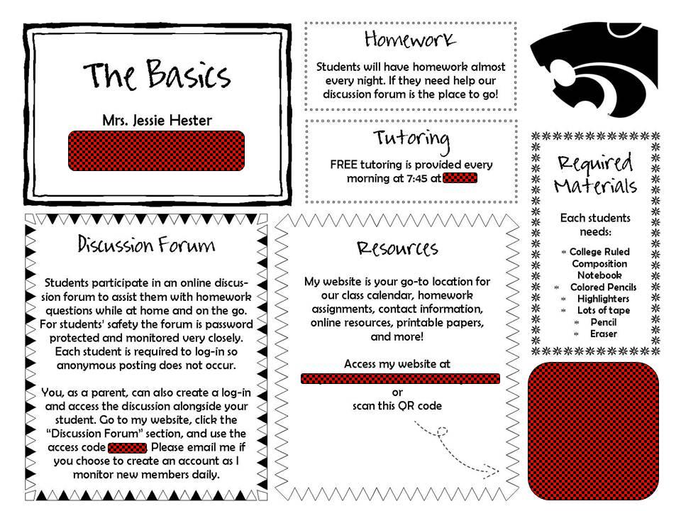 Classroom Handout Ideas ~ Mrs hester s classroom updated parent handout
