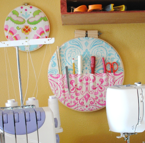 Janna Also Embroidery Hoops To Showcase Beautiful Quilting Squares As Wall Art