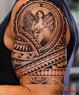 tato tribal malaikat di tangan