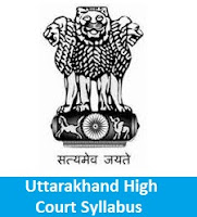Uttarakhand High Court Syllabus