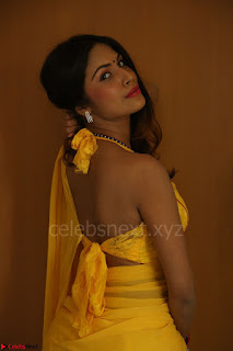 Nishigandha in Yellow backless Strapless Choli and Half Saree Spicy Pics 150.JPG