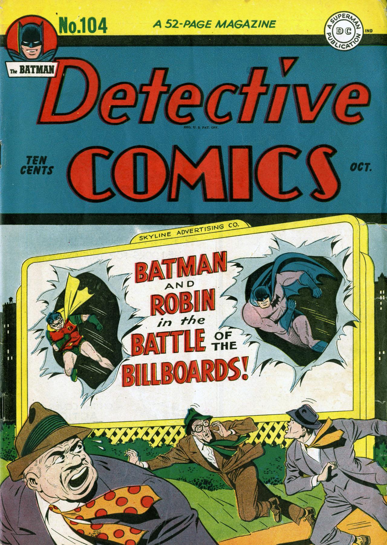 Detective Comics (1937) 104 Page 1