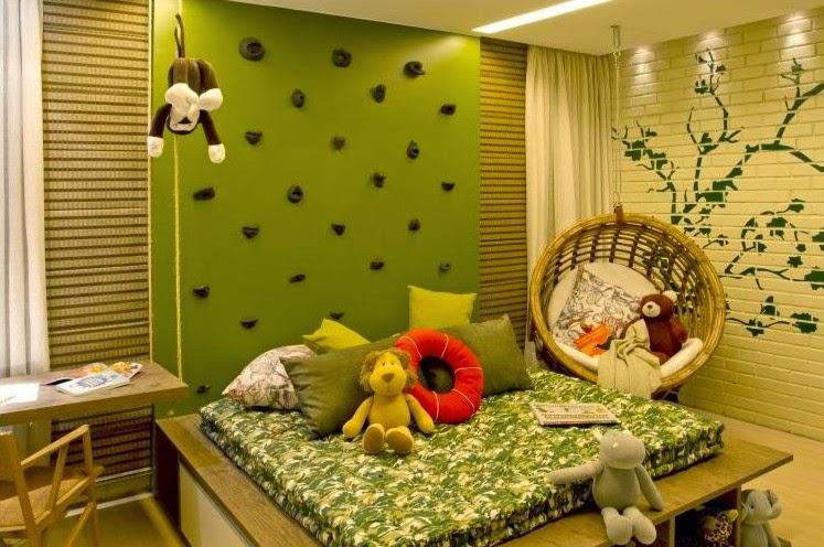 cuarto verde niña